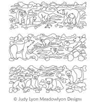 Polar Bears Panel Set 1-3 by Judy Lyon. This image demonstrates how this computerized pattern will stitch out once loaded on your robotic quilting system. A full page pdf is included with the design download.