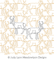 Pronghorn Panto by Judy Lyon. This image demonstrates how this computerized pattern will stitch out once loaded on your robotic quilting system. A full page pdf is included with the design download.