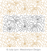 Spider Webs by Judy Lyon. This image demonstrates how this computerized pattern will stitch out once loaded on your robotic quilting system. A full page pdf is included with the design download.
