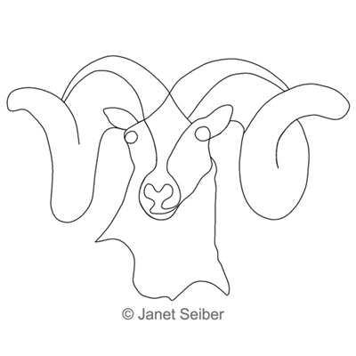 Digitized Longarm Quilting Design Bighorn Motif was designed by Janet Seiber.
