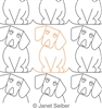 Digitized Longarm Quilting Design Dog Border or Panto was designed by Janet Seiber.