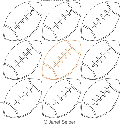 Football Border Or Panto Janet Seiber Computerized Quilting Designs