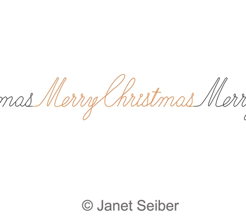 digitized longarm quilting design merry christmas border was designed by janet seiber - Merry Christmas Border