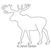 Digitized Longarm Quilting Design Moose Motif was designed by Janet Seiber.