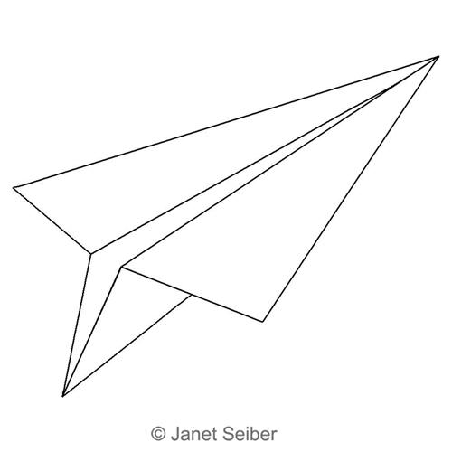 paper airplane motif
