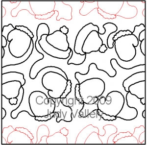 Digital Quilting Design Baby It's Cold Outside by Judy Vallely.