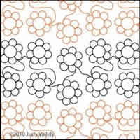 Digital Quilting Design Judy's Simple Daisy Panto by Judy Vallely.