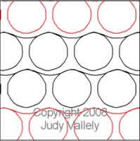 Digital Quilting Design Roundabout by Judy Vallely.