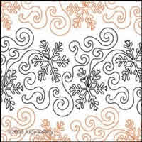 Digital Quilting Design Snow Day by Judy Vallely.
