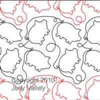Digital Quilting Design This Little Piggy by Judy Vallely.