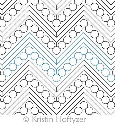 Digital Quilting Design Kristin's Chevron by Kristin Hoftyzer.