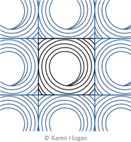 Down the Tube by Karen Hogan. This image demonstrates how this computerized pattern will stitch out once loaded on your robotic quilting system. A full page pdf is included with the design download.