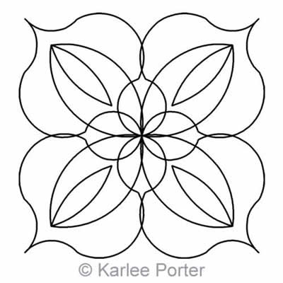 Digital Quilting Design Lotus Block 4 by Karlee Porter.