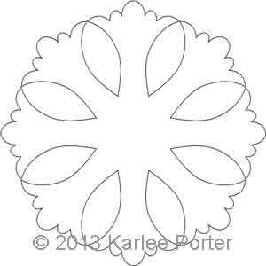 Digital Quilting Design 8-Sided Applique 1 by Karlee Porter.