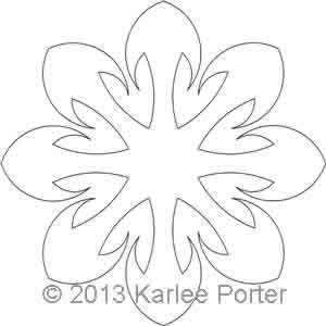 Digital Quilting Design 8-Sided Applique 4 by Karlee Porter.