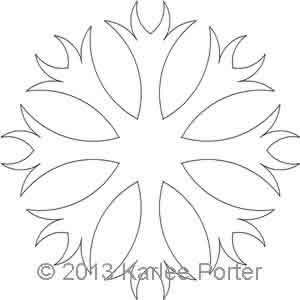 Digital Quilting Design 8-Sided Applique 5 by Karlee Porter.