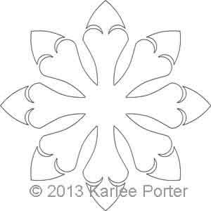 Digital Quilting Design 8-Sided Applique 7 by Karlee Porter.