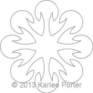 Digital Quilting Design 8-Sided Applique 9 by Karlee Porter.