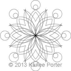 Digital Quilting Design 8-Sided Medallion 1 by Karlee Porter.