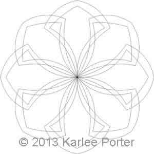 Digital Quilting Design 8-Sided Medallion 2 by Karlee Porter.