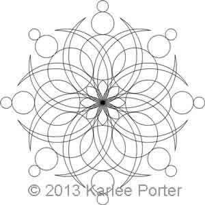 Digital Quilting Design 8-Sided Medallion 6 by Karlee Porter.