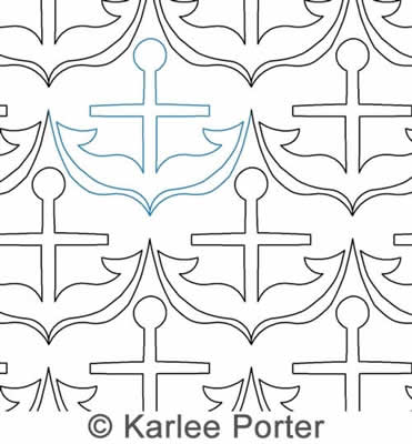 Digital Quilting Design Karlee's Anchors Away by Karlee Porter.