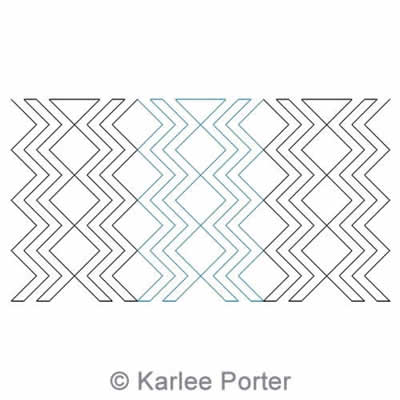 Digital Quilting Design Argyle Echo by Karlee Porter.
