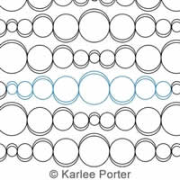 Digital Quilting Design Blowing Bubbles by Karlee Porter.