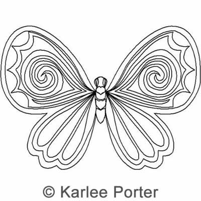 Digital Quilting Design Butterfly by Karlee Porter.