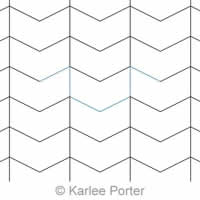 Digital Quilting Design Chevron Chunks by Karlee Porter.