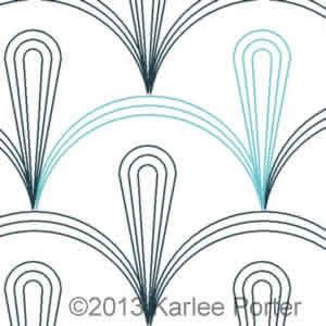 Digital Quilting Design Clamshell Echo by Karlee Porter.