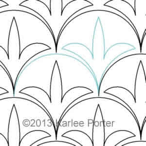 Digital Quilting Design Clamshell Leaf by Karlee Porter.