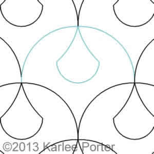 Digital Quilting Design Clamshell Teardrop by Karlee Porter.
