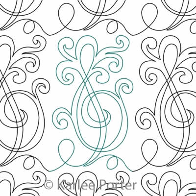 Digital Quilting Design Curly Clef by Karlee Porter.
