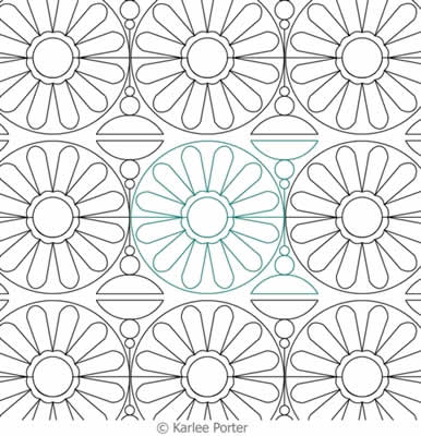 Digital Quilting Design Daisy Chain by Karlee Porter.