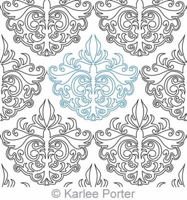 Digital Quilting Design Damask by Karlee Porter.
