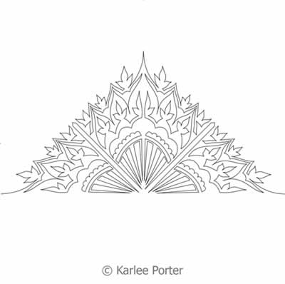 Digital Quilting Design Damask Flower Continuous Triangle by Karlee Porter.