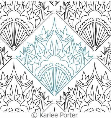 Digital Quilting Design Damask Flower by Karlee Porter.