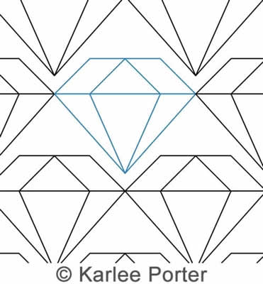Digital Quilting Design Diamond in the Sky by Karlee Porter.