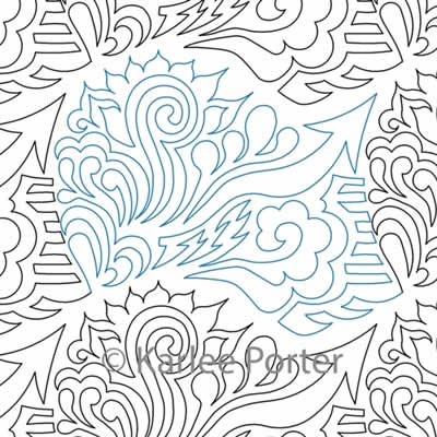 Digital Quilting Design EZ Doodle 2 by Karlee Porter.
