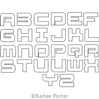 Digital Quilting Design Fatty Alphabet by Karlee Porter
