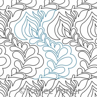 Digital Quilting Design Feather Flame by Karlee Porter.