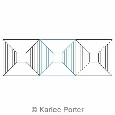 Digital Quilting Design Geometric Border 5 by Karlee Porter.