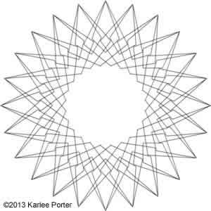 Digital Quilting Design Geometric Flower 11 by Karlee Porter.