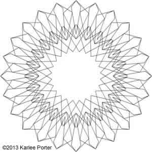Digital Quilting Design Geometric Flower 12 by Karlee Porter.