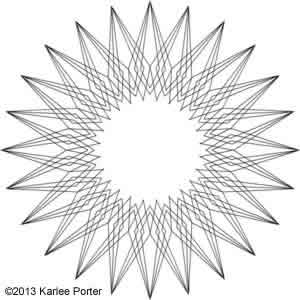 Digital Quilting Design Geometric Flower 16 by Karlee Porter.