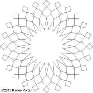 Digital Quilting Design Geometric Flower 18 by Karlee Porter.