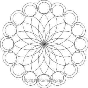 Digital Quilting Design Medallion 2 by Karlee Porter.