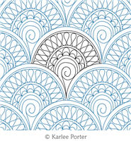 Egyptian Elegance Clam by Karlee Porter. This image demonstrates how this computerized pattern will stitch out once loaded on your robotic quilting system. A full page pdf is included with the design download.