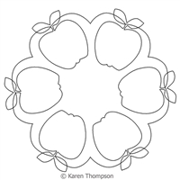 Digital Quilting Design Apple Wreath by Karen Thompson.